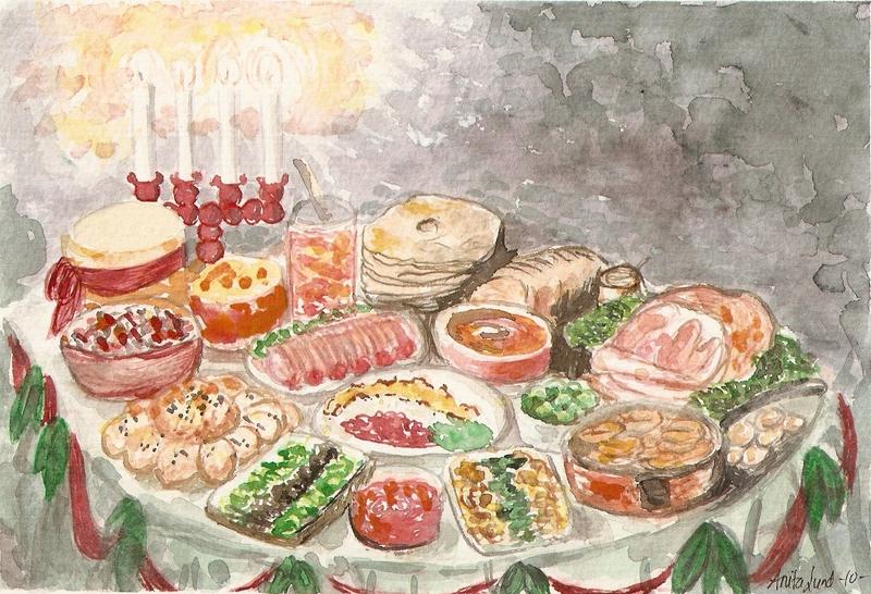 17) Mot jul - Julebord