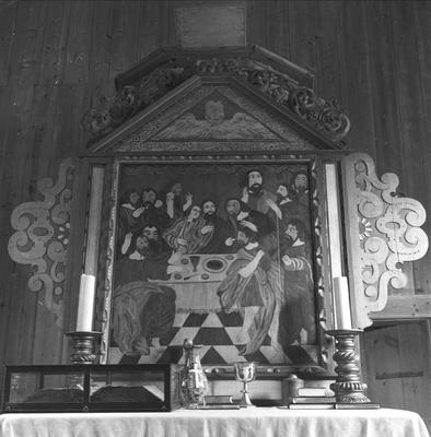 Altertavle i ukjent kirke