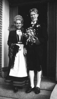 Brudebilde av Katrine og Knut Homme