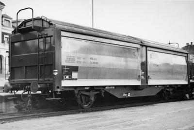 NSB godsvogn med skyvevegger og -tak litra Gtl5 nr