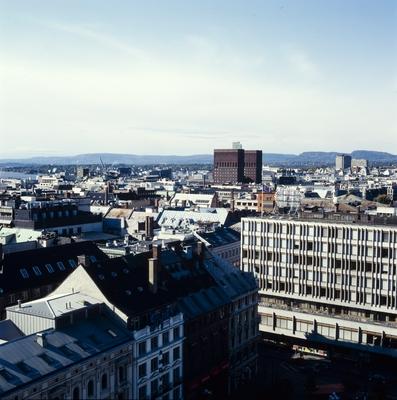Utsikt fra Oslo Domkirke.