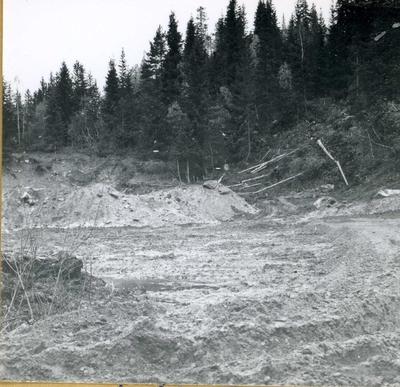 Lagar veg i skogen til kraftutbygginga.