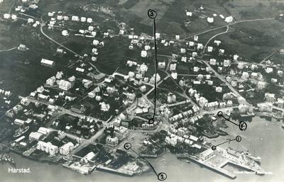 Flyfoto av Harstad sentrum
