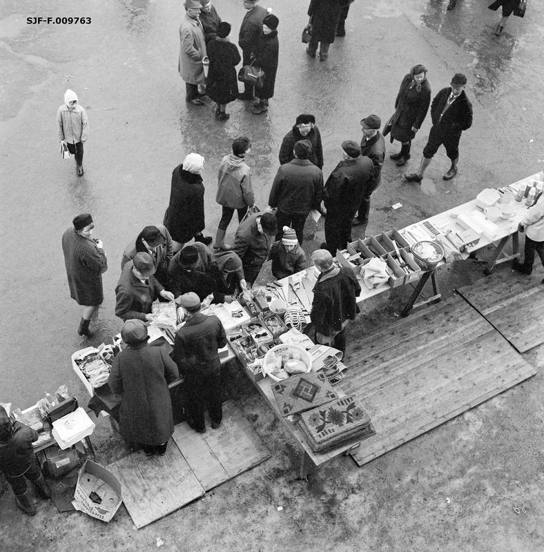 Handel i Elverum under Grundsetmart'n i 1967
