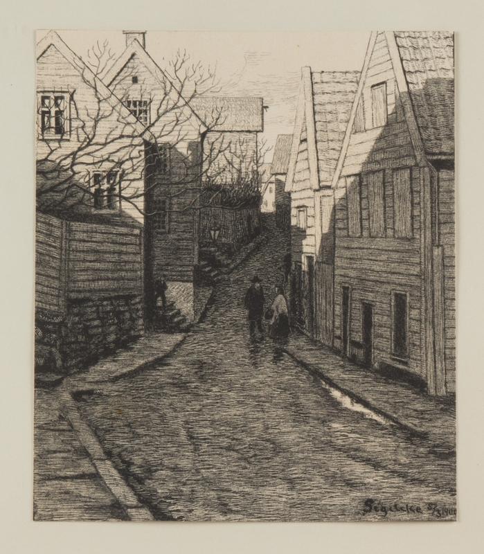 Nedre Strandgate ved Andabakken, 1900