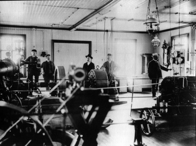 Hammerfest el-verk/kraftverk fotografert ca 1919