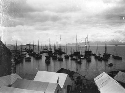 Seilskuter og båter ved Hamnneset
