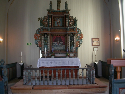 Øksendal kirke bygd i 1894