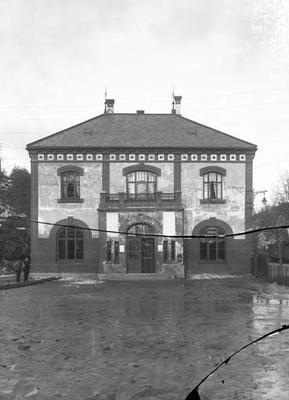 Fasade Arendal stasjonsbygning