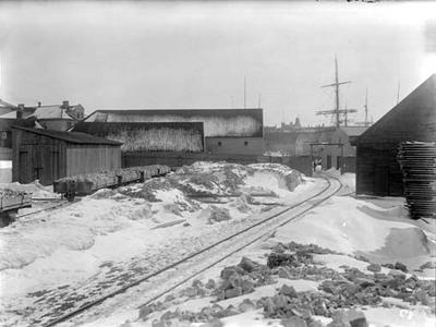 Jernbanens bryggetomt i Kristiansand